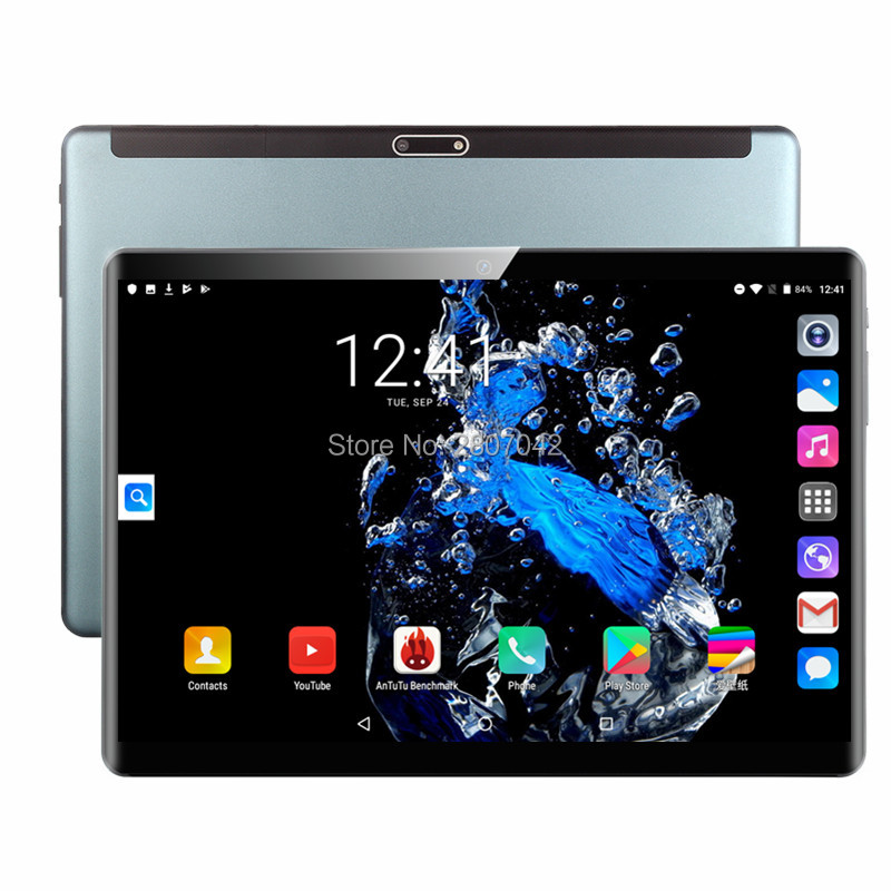 Freeshiping 10 Inch 2.5D Glass Tablet PC Android 9.0 Octa Core 4G LTE 6GB RAM 128GB ROM 1920*1200 IPS A-GPS Tablet 10 10.1+Gifts