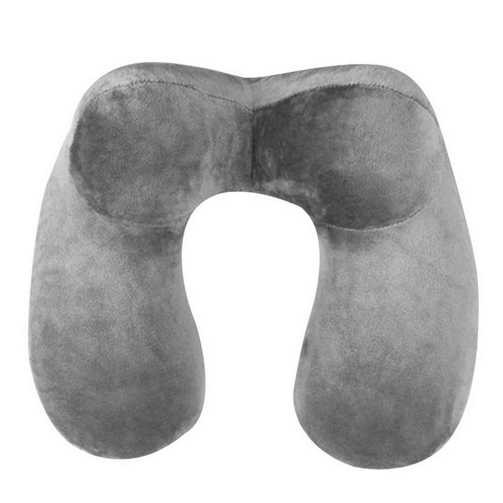Urijk 1 قطعة U-شكل السفر وسادة وسادة عنقية قابلة للنفخ للنوم طائرة لينة الوسائد مريحة مكتب السفر في الهواء الطلق
