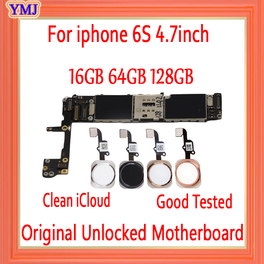 16gb 64gb 128gb with Full unlocked for iphone 6S Motherboard with Touch ID/without Touch ID,Original for iphone 6s Logic board image