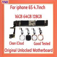 16gb 64gb 128gb mit Voll entsperrt für iphone 6S Motherboard mit Touch ID/ohne Touch ID  original für iphone 6s Logic board
