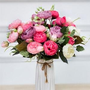 Искусственные цветы для украшения, искусственные цветы из шелка для свадьбы, белые розы, искусственные цветы