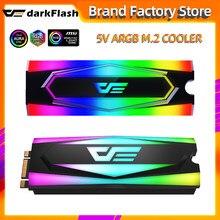 Darkflash alumínio 5v argb m.2 ssd dissipador de calor do disco rígido dissipador de calor radiador refrigerando silicone therma almofadas cooler m2 ngff 2280