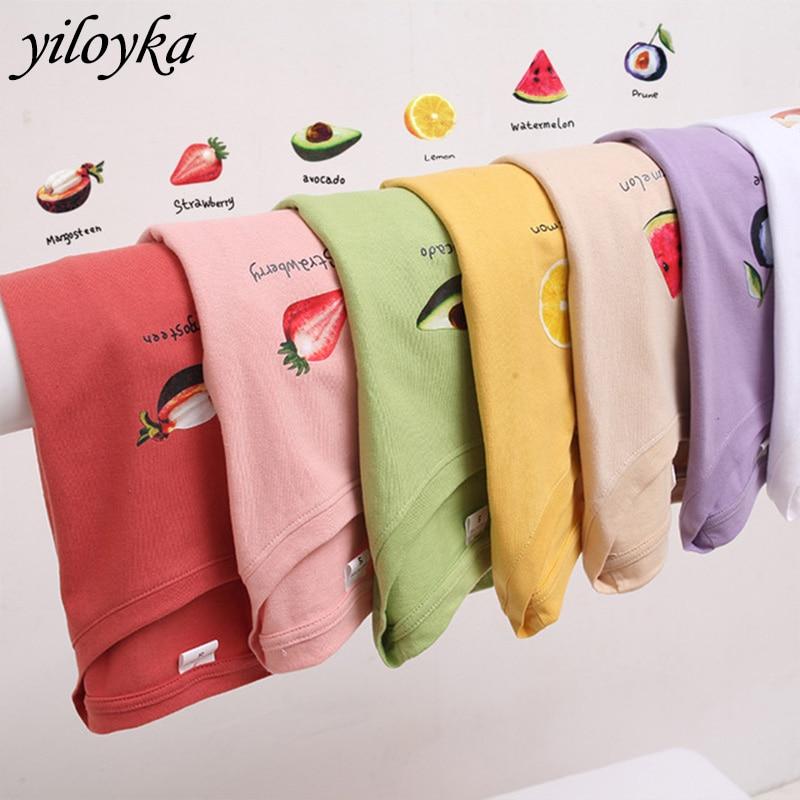 New Summer Women Cotton T-shirt Short Sleeve O-Neck Print Fruit Tshirt Female Casual T Shirt Women Basic Classic Tops Clothes
