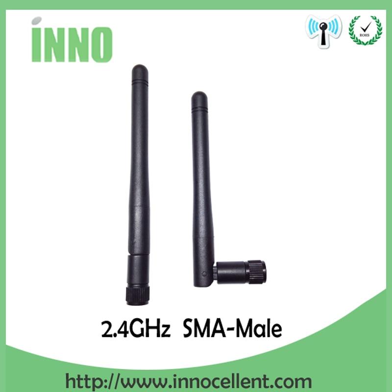 2pcs 2.4GHz WIFI Antenna 2~3dbi Aerial SMA Male Connector Wi Fi Antena 2.4g Antenne Wi-fi White For Wireless Router Antenas