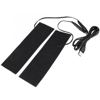 USB Heating Pad 1 Pair 5V USB Electric Heating Element Film Heater Pads for Warming Feet Hardware Accessories 5v usb electric clothes heater sheet adjustable temperature winter heated gloves for cloth pet heating pad waist warmer tablet