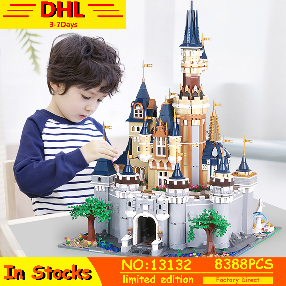 MOC <font><b>13132</b></font> The Disneys Cinderella Princess Castle Compatible lepins Friends 71040 16008 Building Blocks Bricks Toys For Children image