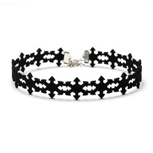 New Snowflakes Velvet Punk Chokers Necklaces for Women Girls Simple Flower Collar Necklaces Party Female Fashion Jewelry
