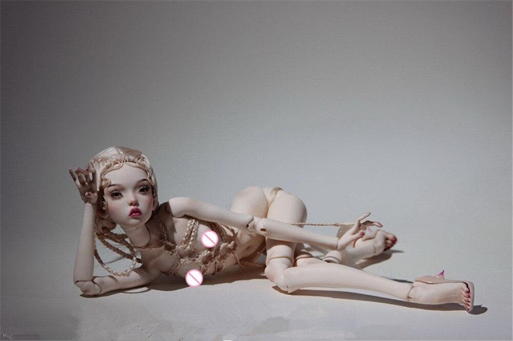 Bjd boneca 1/4 russa irmã cidade boneca presente de aniversário alta qualidade articulado brinquedo boneca presente dolly modelo nu frete grátis