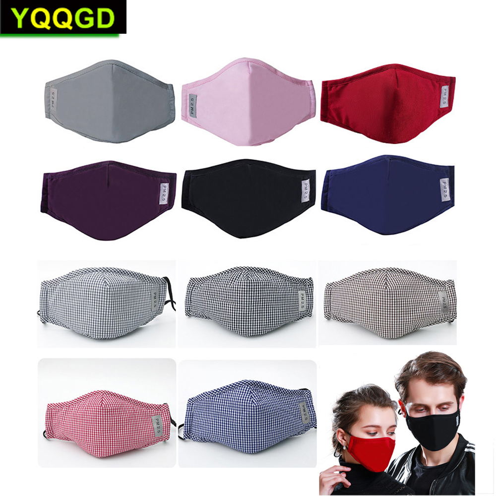 1Pcs Multi Color Cotton Black Mouth Mask Activated Carbon Filter Windproof Mouth-muffle