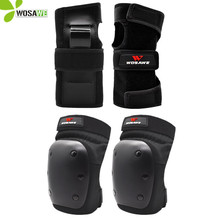WOSAWE Roller Skating Knee Protector Elbow Wrist Protection EVA Layer Scooter Ski Bicycle Hockey Sports Body Brace Support Suits