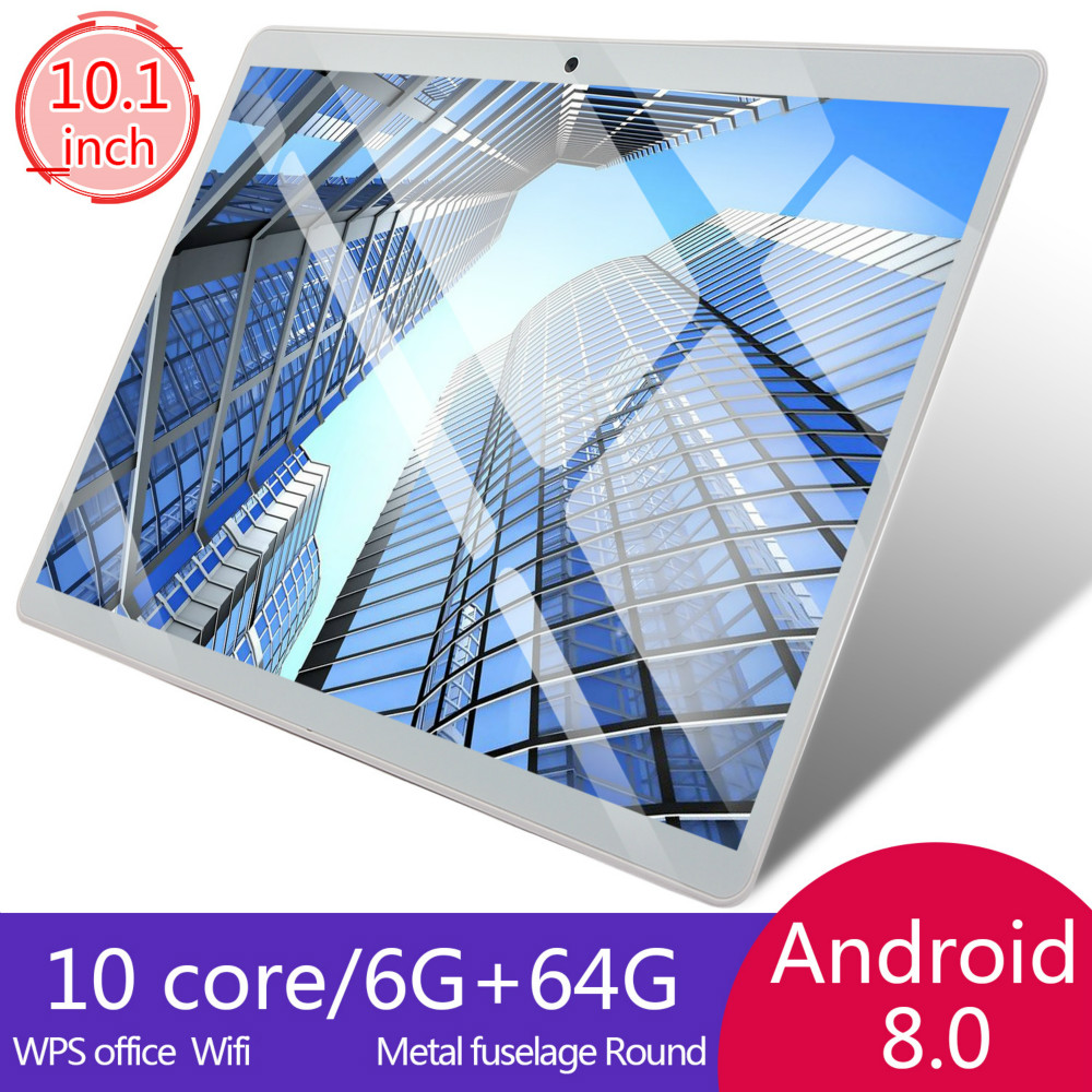 2020 10 Inch Tablet PC 4G  Octa Core Super Tablets Ram 6G+64G WiFi GPS 10 Tablet  SIM GPS Android 8.0