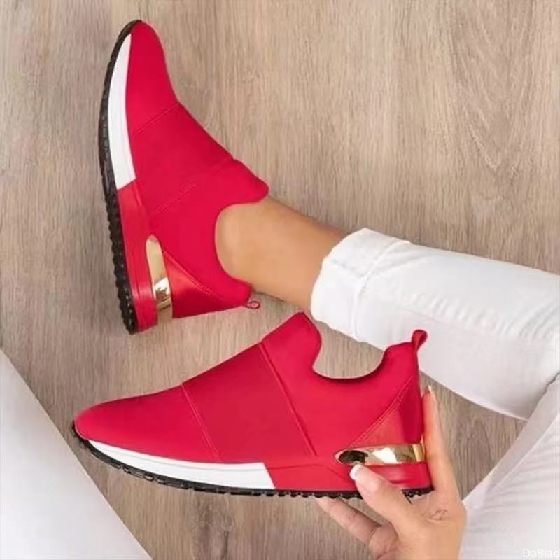 Sneakers Women Shoes 2021 Summer Casual Breathable Slip On Sport Elastic Band Solid Color Vulcanized Ytmtloy