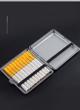 1pc Double-open Leather Cigars Cigarette Cases for 20pcs Cigarettes Stainless Steel Tobacco Cigarette Box Cigarette Tools