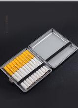 1pc Double-open Leather Cigars Cigarette Cases for 20pcs Cigarettes Stainless Steel Tobacco Cigarette Box Cigarette Tools