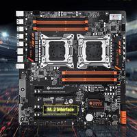 Huananzhi X79 8D Motherboard Intel Dual CPU LGA 2011 E5 2689 2670 V2 DDR3 1333/1600/1866MHz 256GB M.2 NVME SATA3 USB3.0 E ATX|Placas-mães| |  -