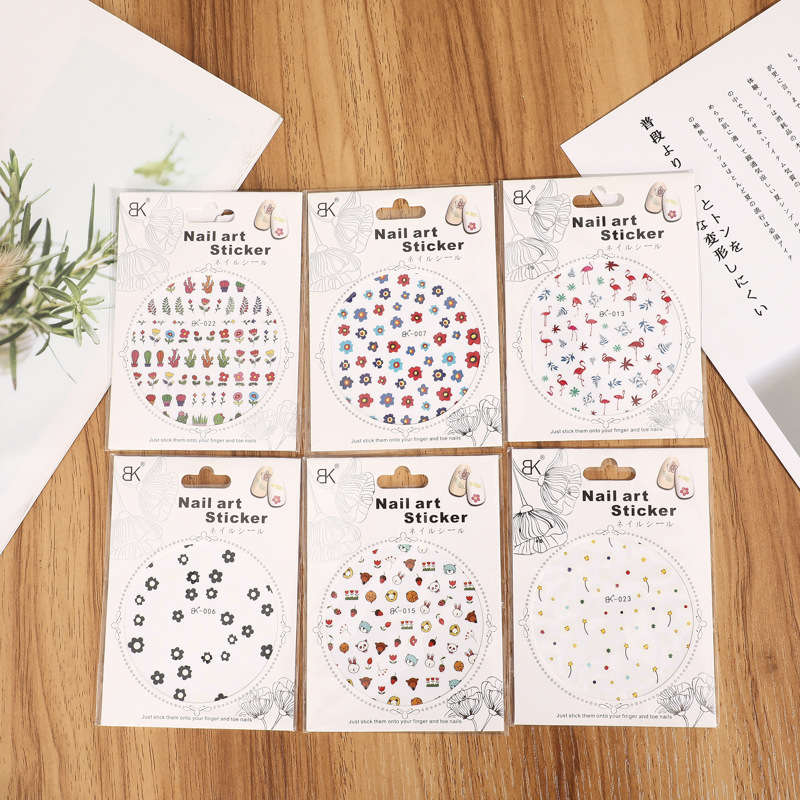 Summer New Products Nail Sticker Weep Yafeng Hipster Fashion Nail Sticker Long-lasting Waterproof Off Live Online Celebrity-