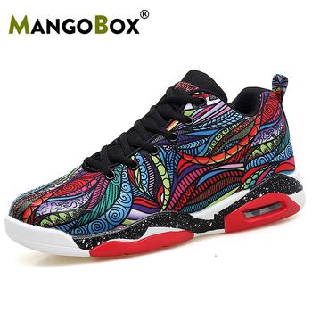 Męskie buty do koszykówki buty do biegania buty do koszykówki kobieta chłopcy poduszka buty sportowe męskie siłownia strój do koszykówki dla dzieci buty para tanie i dobre opinie Mangobox Średnie (b m) Średni podkrój RUBBER Cotton Fabric s8003 Bezpłatne elastyczne Lace-up Spring2019 Pasuje prawda na wymiar weź swój normalny rozmiar