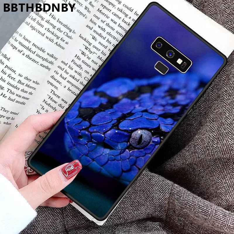 טלפון מקרה נחש דפוס TPU רך טלפון מקרה עבור סמסונג S9 בתוספת S6 קצה בתוספת S7 קצה S8 בתוספת S10 בתוספת