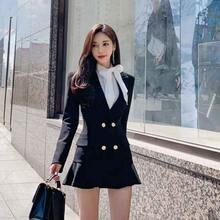 Цельнокроеное корейское платье новинка 2020 осенне зимнее женское
