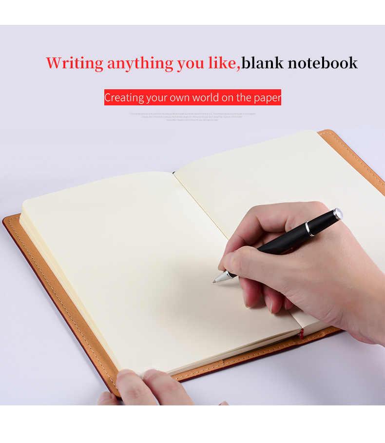 A4 A5 biznes skórzany notes pisanie notatnik biurowe podróży prezent urodzinowy organizator pamiętnik dziennik na zewnątrz Agenda Planner