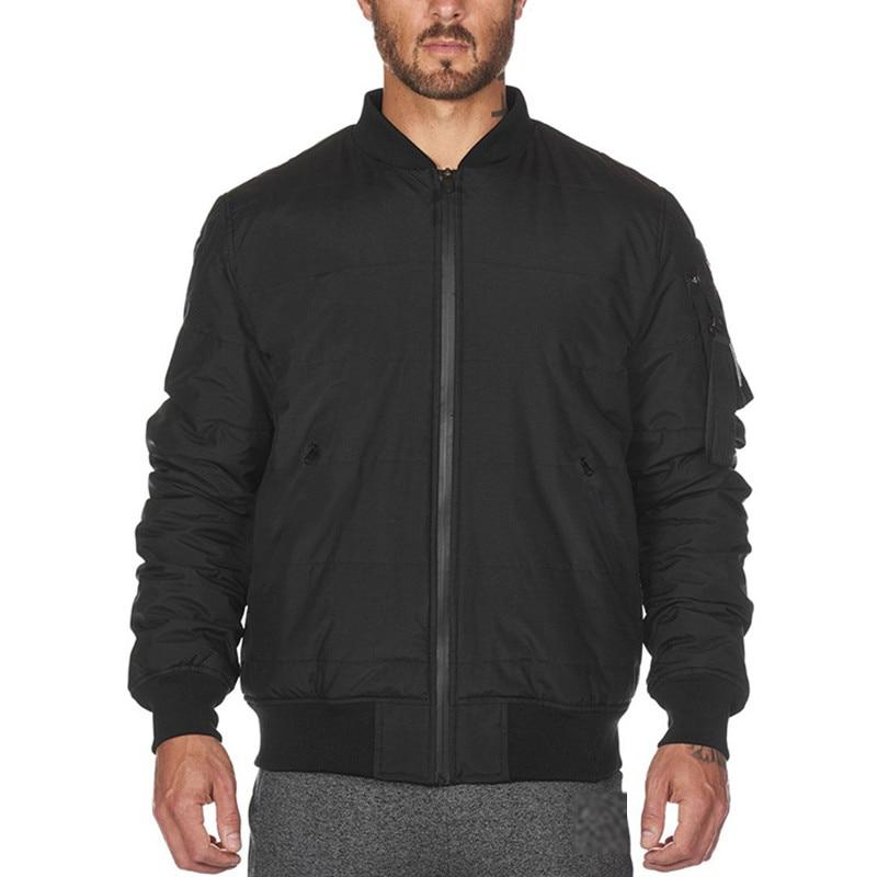 2019 New Autumn Winter Mens Zipper Sweatshirts Fashion Casual fitness Bodybuilding Joggers jackets Men Down Coat tops clothing