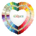 50-450 Pcs Stickerei Gewinde Baumwolle Nähen Stränge Kreuz Stich Floss Multicolor Nähen Zubehör Hause DIY Stickerei Kits