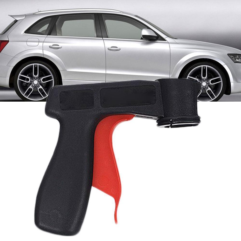 Spray Adaptor Paint Care Aerosol Spray Gun Handle With Maintenance Locking Trigger Grip Car Collar Full N4C6