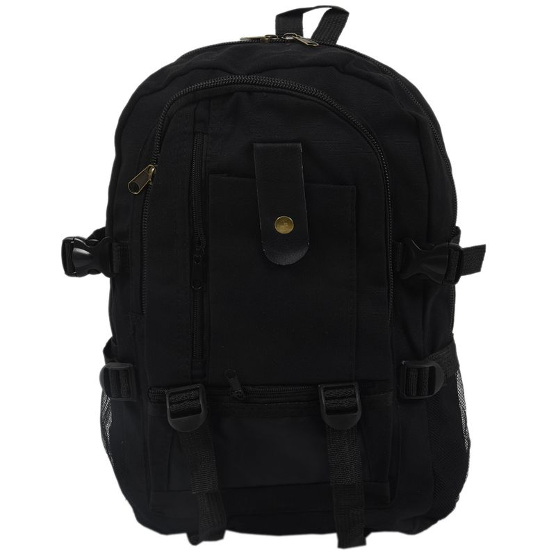 NEW-male Retro Leisure Tourism Canvas Backpack Black