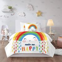 48 3D Cartoon Rainbow Bedding Set Kids Children Girls Pink Colorful Twin Single Duvet Cover Cute Bed Linen Comforter Textile