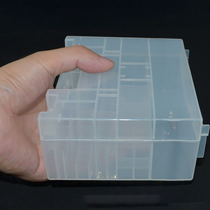 Image 3 - Transparent Plastic Battery Holder Box Container for AA and AAA Battery Storage Boxes Case Cover for Battery Organizer Holder