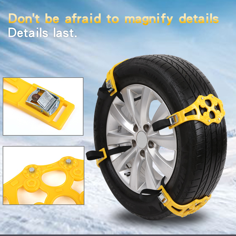 4pcs/8 Pcs Set Of Car Winter Road Tires Snow Chains Double Buckle Anti-slip Safety Anti-skid TPU Anti-skid Chain Suv Wheel Chain