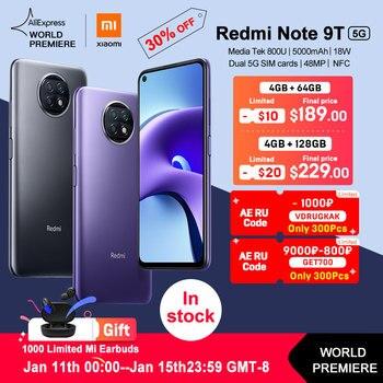 "Xiaomi Redmi Note 9T NFC 4GB 64GB /128GB Smartphone 6.53 ""48MP Triple camera"
