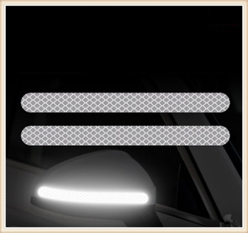2PCS car sticker rearview mirror reflective strip Auto parts for Peugeot Jeep Harley-Davidson Buick Bentley Scania image