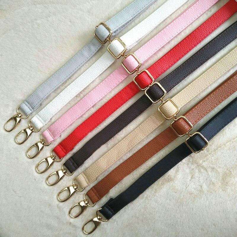 Hot Sale Women PU Leather Bag Strap 130cm Crossbody Shoulder Bag Belt Solid Color Bag Handle Metal Button Accessories For Bags