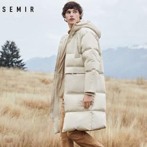 Image 2 - Mens Winter Down Jacket Business Long Thick Winter Coat Men Solid Fashion Outerwear Warm Long Coat Man