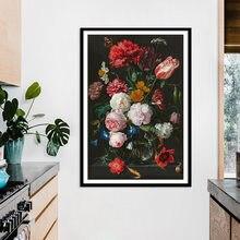 Скандинавский День Святого Валентина классическая картина маслом розы на холсте плакаты и принты Куадрос настенные картины для гостиной