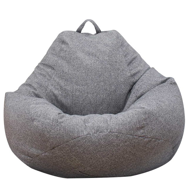 Large Small Lazy Sofas Cover Chairs without Filler Linen Cloth Lounger Seat Bean Bag Pouf Puff Couch Tatami Living Room 4