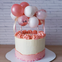 14pcs/set Confetti Balloon Cake Topper Set 5inch Birthday Party Decoration Mini Kits Wedding Decor Supplies Tools