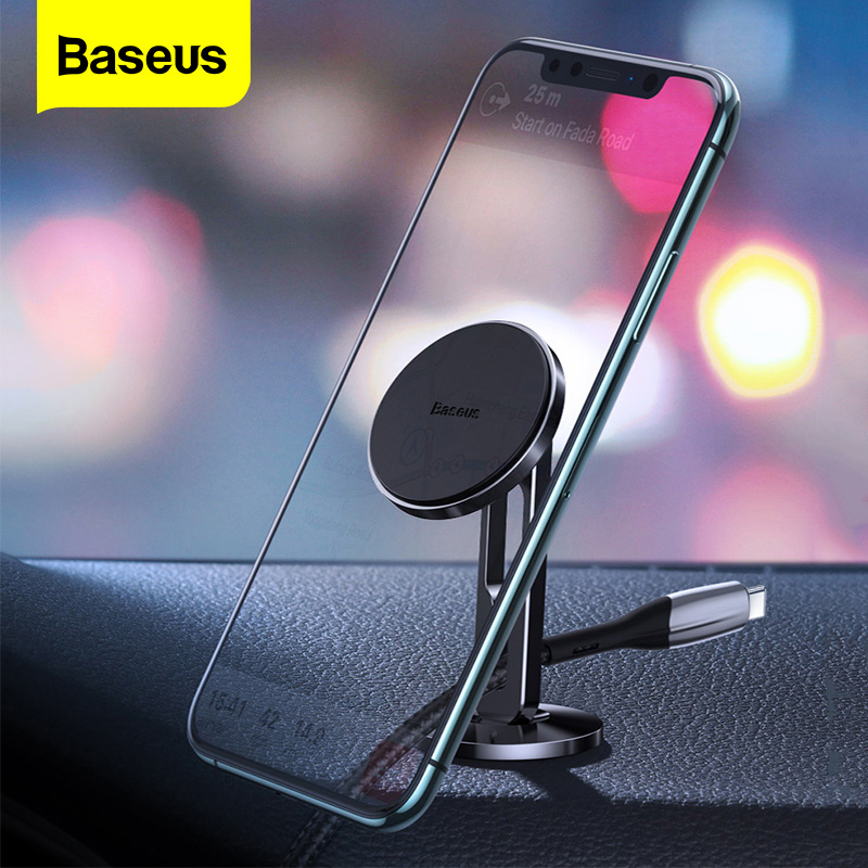 Baseus Magnetic Car Phone Holder For IPhone 11 Samsung Auto Cell Mobile Phone Stand Support Magnet Mount Holder For Phone In Car