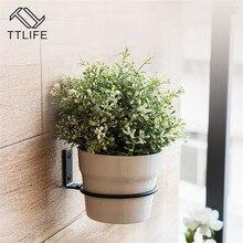TTLIFE 3PCS 11cm / 15cm Folding Flower Pot Trays Wall Mounted Planter Ring Holder Bracket Balcony