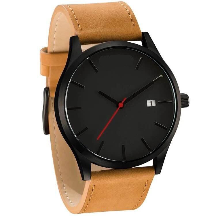 Мужские часы, модные часы для мужчин,, Топ бренд, роскошные часы, мужские спортивные часы, кожа, на каждый день, reloj hombre erkek kol saati - Цвет: balck khaki
