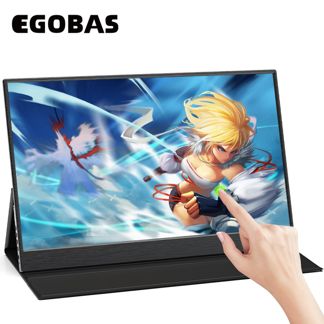 15.6inch Portable Monitor Touchscreen IPS 1080P HDR Gaming Monitor USB C HDMI-compatibe for Switch Smartphone Laptop PS4 XBOX 1