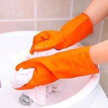 1pc naczynia do mycia naczyń rękawice do sprzątania wodoodporne rękawice do mycia naczyń opaski gumowe rękawice gumowe z długim rękawem tanie tanio JosheLive 70g 1 pair of gloves Średni RUBBER Czyszczenie Gładka podszewka lateksowe natural latex dishwashing and laundry gloves
