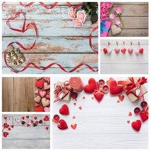 Arrière-plan de photographie en planche de bois, chandelle de cœurs rouges, arrière-plan de photographie personnalisé, pour les amoureux, pour la saint-valentin, anniversaire