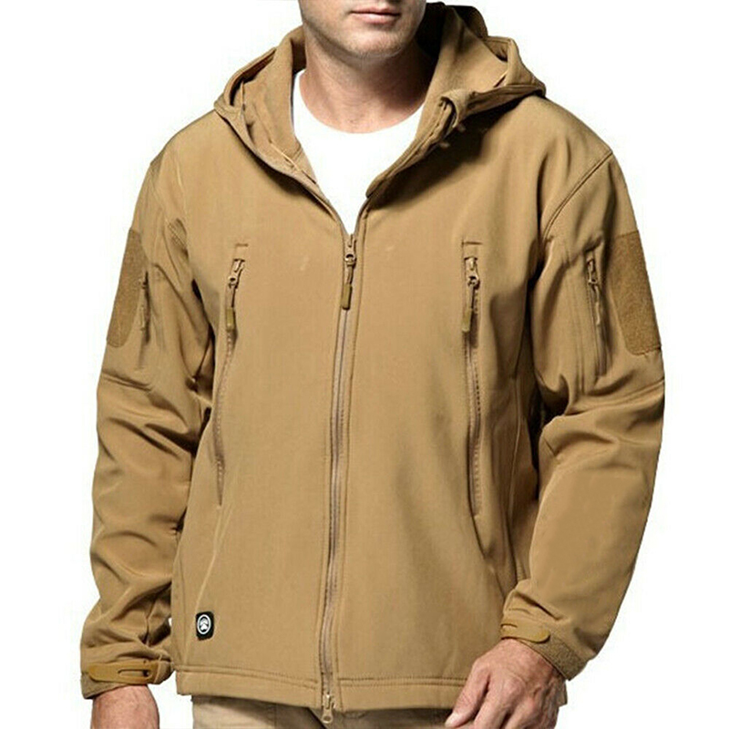 Winter Man Jacket Outdoor Waterproof Mens Jacket Tactical Coat Soft Shell Jackets Climbing Casual Outerwear Tops