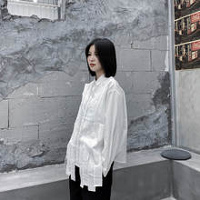 Yamamoto style long sleeve shirt fall 2020 new loose, casual, original design sense niche jacket trend