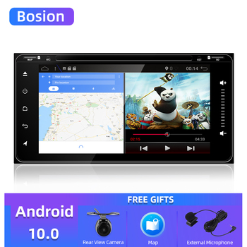 4 core 2 din android 10.0 car dvd gps navigation for Toyota Avalon AVanza Celica camry corolla car radio video player WIFI BT5.0 image
