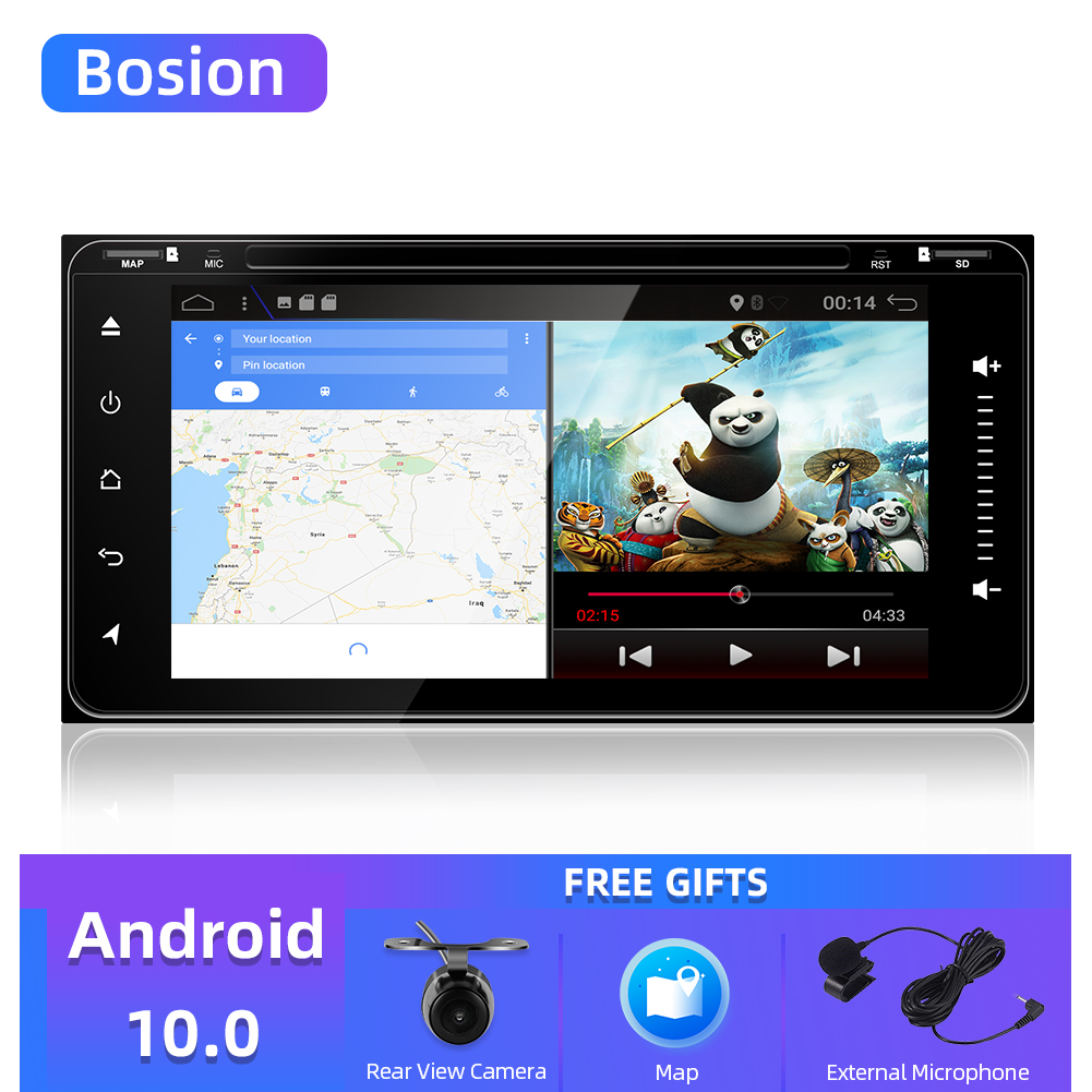 4 core 2 din android 9.0/10.0 car dvd gps navigation for Toyota Avalon AVanza Celica camry corolla car radio video player WIFI image