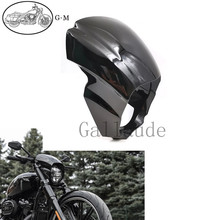 Gloss Black Motorcycle Headlight Cover Headlight Fairing For Harley Softail Breakout