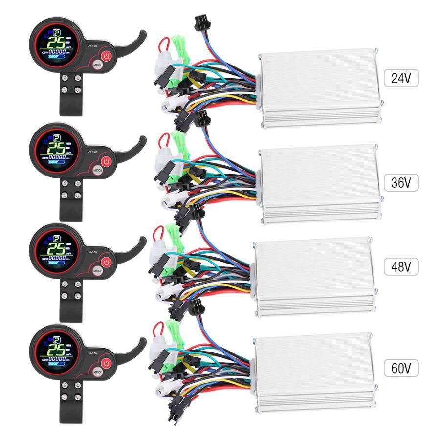24V 36V 48V 60V 250W/350W elektryczny rower rower skuter kontroler wyświetlacz LCD Panel sterowania z przełącznikiem zmiany biegów e-bike części